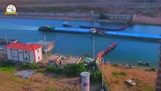 للمرة الثانية خلال اسبوع ميناء دمياط ينجح فى نقل شحنة من القمح إلى صومعة امبابة عبر نهر النيل
