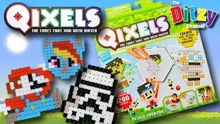 getlinkyoutube.com-QIXELS Art n Craft How-To | Play Along Guess Who Game! | Star Wars My Little Pony Super Mario Bros
