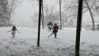 getlinkyoutube.com-Running Barefoot in the Snow! (WK 264.4) | Bratayley