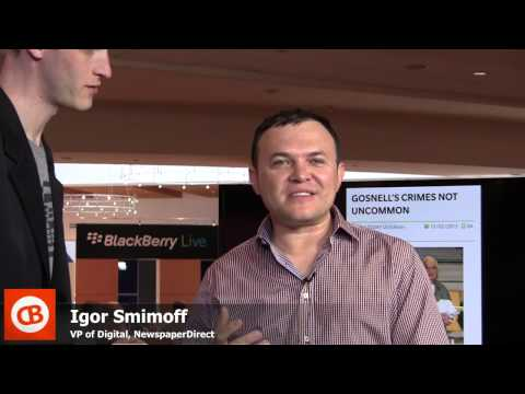 CrackBerry Live: Igor Smirnoff talks up buying newspapers on BlackBerry 10