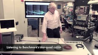 Star-quad microphone cable demonstration.