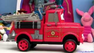 getlinkyoutube.com-Cars Toons Fire Truck Mater From Rescue Squad Mater Disney Pixar Mater's tall tales Red