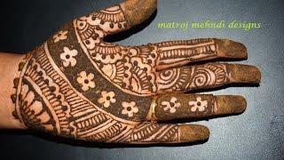 getlinkyoutube.com-Beautiful easy Mehndi Henna Designs|Matroj Mehndi Designs|Design-10