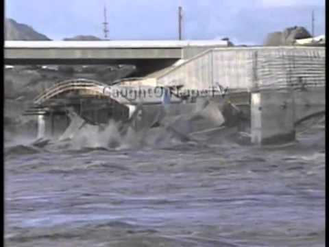 BRIDGE COLLAPSES DURING FLOOD!