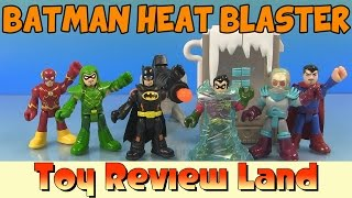 getlinkyoutube.com-Imaginext Batman Heat Blaster Adventure: with Robin, Mr Freeze, Superman, Flash, and Green Arrow!