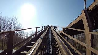getlinkyoutube.com-The Beast Wooden Roller Coaster POV Legendary Classic Woodie at Kings Island Ohio HD 1080p