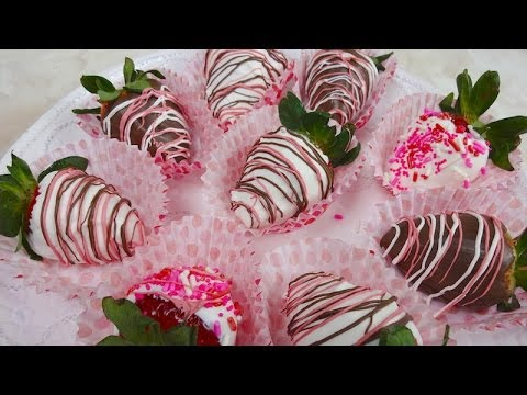 Fresas Cubiertas de Chocolate - ¡Para San Valentín!