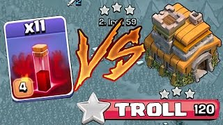 getlinkyoutube.com-Clash Of Clans - TH7 VS. ALL SKELETONS SPELLS (3 Star troll attacking)