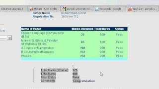 Punjab University Result Online