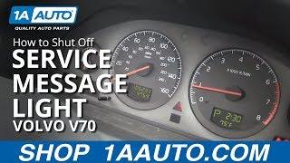 getlinkyoutube.com-How To Shut Off Time for Regular Service Reminder Message Light 99-07 Volvo V70 XC70 S60 S80 XC9