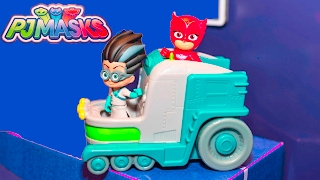 getlinkyoutube.com-PJ MASKS Disney PJ Masks Changing Station New Toys  Video