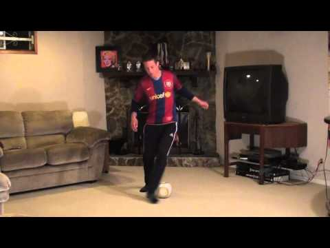 At Home Soccer Skills and Drills: Exercise #3 - Scissor to Step over