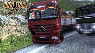 getlinkyoutube.com-Euro Truck Simulator 2 | MultiPlayer | Avarie 94% la tir plus Accidentul |  Ep #7