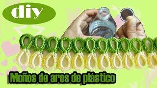 getlinkyoutube.com-#Moños de #Aros de plástico de #botella de agua