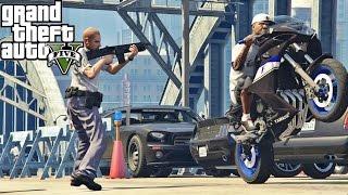 getlinkyoutube.com-GTA V YAMAHA XJ6-F FUGA NA BLITZ POLICIAL