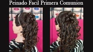 getlinkyoutube.com-Peinado Facil Primera Comunión o 15 Años