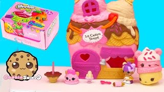 getlinkyoutube.com-Scoops House Ice Cream Shoppe Lalaloopsy Tinies Playset + Season 4 Shopkins Blind Bag Unboxing