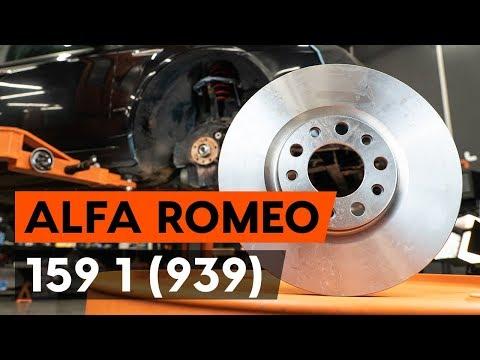 Как заменить передние тормозные диски наALFA ROMEO 159 1 (939)(ВИДЕОУРОК AUTODOC)
