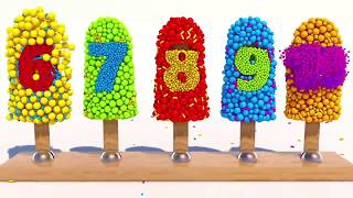 Learning Numbers with 3D Ice Cream for Children
