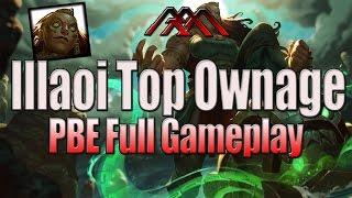 getlinkyoutube.com-Illaoi Top Ownage - PBE Full Gameplay - League of Legends