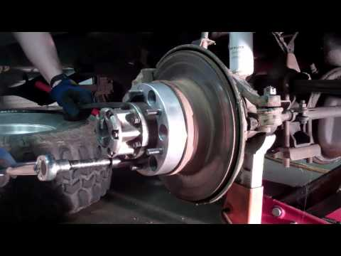 Installing Wheel Spacers for Toyota 4x4 Solid Front Axle.  The pros and cons of using wheel spacers.