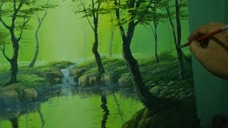 getlinkyoutube.com-Acrylic Landscape Painting Lesson - The Forest River by JM Lisondra