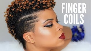 getlinkyoutube.com-Natural Hair | How To - Sexy Finger Coils On Natural Tapered Hair