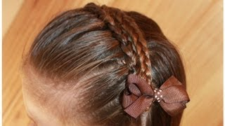 getlinkyoutube.com-片裏編みこみでヘアバンド  Make a Hairband with a Dutch Lace Braid