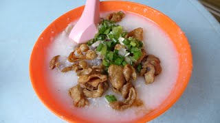 getlinkyoutube.com-槟城乔治市巴刹猪肠粥 Traditional Pig Intestine Porridge Still A Hit After 66 Years!