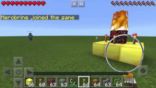 getlinkyoutube.com-How To Spawn Herobrine In Minecraft Pocket Edition (fake)