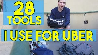 """28 Tools I Use For Uber! My Rideshare """"Go"""" Bag For Drivers"""