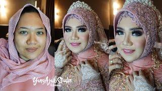 getlinkyoutube.com-Tutorial Makeup Wedding Muslim dan Hijab Simple Elegan dengan Mahkota