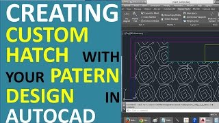 getlinkyoutube.com-Creating custom Hatch with your Own Pattern Design in AutoCAD - Hatch with a Block