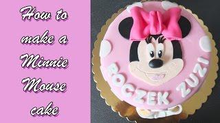 getlinkyoutube.com-How to make a Minnie Mouse cake / Jak zrobić tort z Myszką Minnie