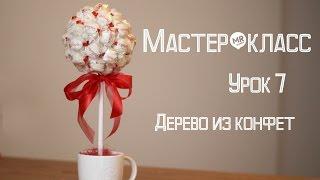 """getlinkyoutube.com-Мастер-класс """"Букет из конфет"""" / Дерево из конфет Урок 7"""