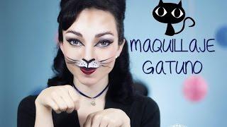 getlinkyoutube.com-Maquillaje de gatita - Look para fiestas de disfraces