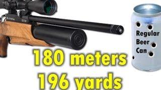 LONG RANGE - Daystate AirWolf .22 vs Beer Cans 180 meters / 196 yards