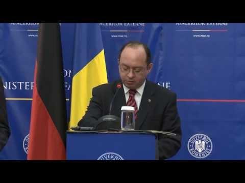 Declaraţii comune de presă ale ministrului Bogdan Aurescu şi ale omologului său german, Frank-Walter Steinmeier