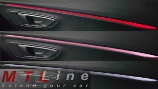 getlinkyoutube.com-Seat Leon 3 - door ambient lighting change - sprememba ambientalne osvetlitve v vratih