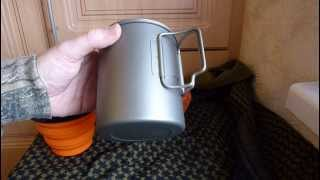 getlinkyoutube.com-Toaks 750ml Titanium pot/mug