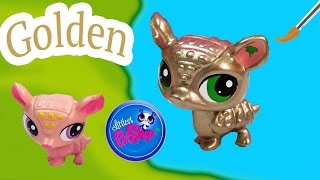 LPS Custom GOLD Armadillo Golden DIY Littlest Pet Shop Nail Polish Easy Craft Painting