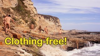 getlinkyoutube.com-Prowling Panther Beach - nudist group explores oceanside rock formations