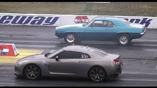 AMERICAN MUSCLE CARS vs IMPORT TUNER CARS DRAG RACING