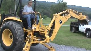 getlinkyoutube.com-2006 John Deere 110 TLB Tractor Loader Backhoe TLB 4x4 Yanmar Diesel Nice For Sale