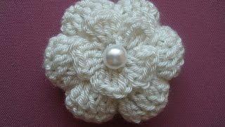 getlinkyoutube.com-Crochet flower 3D  Tutorial