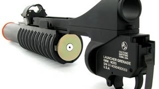 getlinkyoutube.com-Colt (Cybergun/Dboys) 3-in-1 M203 Airsoft Grenade Launcher Review