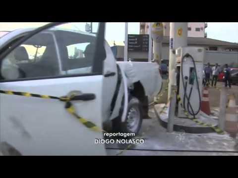 Acidente em posto de combustível deixa uma pessoa ferida, em RO