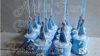 getlinkyoutube.com-Centro de Mesa Frozen(Ateliê Fran E.V.Artes)