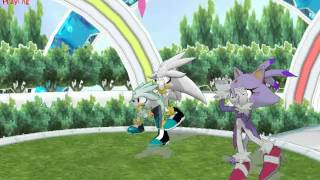 getlinkyoutube.com-MMD - Silver, Blaze, and Classic Silver Dance to Dream Fighter