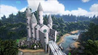 ARK DINO CASTLE VIDEO TOUR!! (Advanced Architecture Mod Showcase)